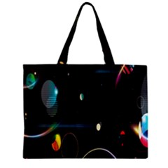 Glare Light Luster Circles Shapes Zipper Mini Tote Bag by Simbadda
