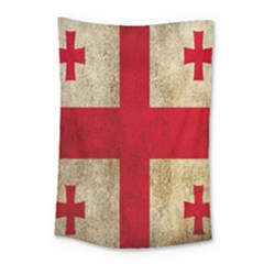 Georgia Flag Mud Texture Pattern Symbol Surface Small Tapestry by Simbadda