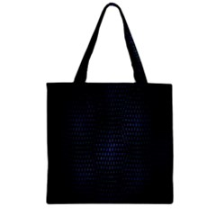Hexagonal White Dark Mesh Zipper Grocery Tote Bag