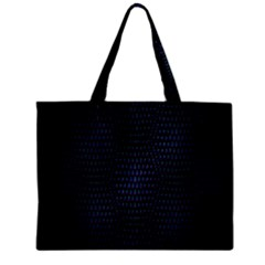 Hexagonal White Dark Mesh Zipper Mini Tote Bag by Simbadda