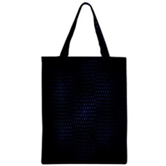 Hexagonal White Dark Mesh Zipper Classic Tote Bag by Simbadda