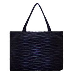 Hexagonal White Dark Mesh Medium Tote Bag by Simbadda