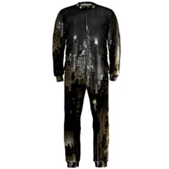 New York United States Of America Night Top View Onepiece Jumpsuit (men)  by Simbadda