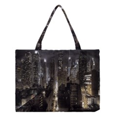 New York United States Of America Night Top View Medium Tote Bag