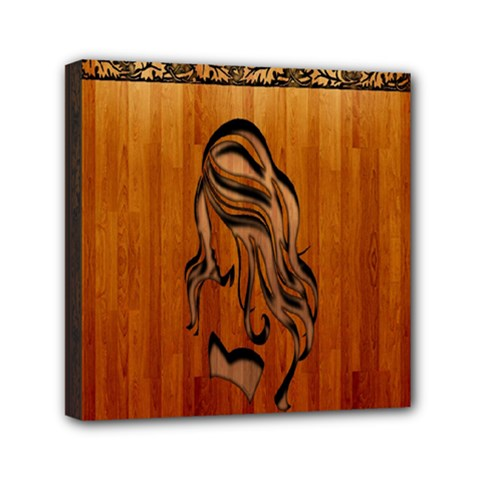 Pattern Shape Wood Background Texture Mini Canvas 6  X 6  by Simbadda
