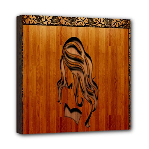 Pattern Shape Wood Background Texture Mini Canvas 8  X 8  by Simbadda