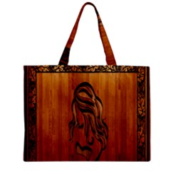 Pattern Shape Wood Background Texture Zipper Mini Tote Bag by Simbadda