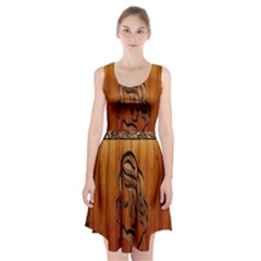 Pattern Shape Wood Background Texture Racerback Midi Dress