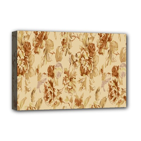 Patterns Flowers Petals Shape Background Deluxe Canvas 18  X 12   by Simbadda