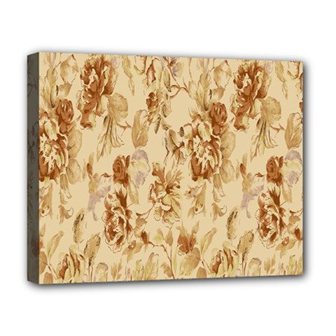 Patterns Flowers Petals Shape Background Deluxe Canvas 20  X 16   by Simbadda