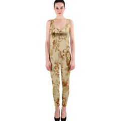 Patterns Flowers Petals Shape Background Onepiece Catsuit by Simbadda