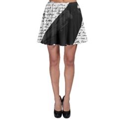 Black Raven  Skater Skirt by Valentinaart
