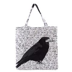 Black Raven  Grocery Tote Bag by Valentinaart