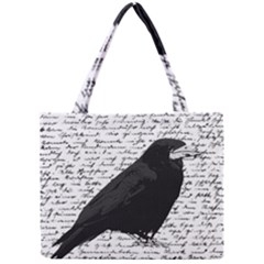 Black Raven  Mini Tote Bag by Valentinaart