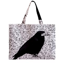 Black Raven  Zipper Mini Tote Bag by Valentinaart
