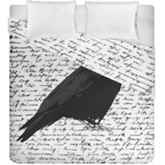 Black Raven  Duvet Cover Double Side (king Size) by Valentinaart