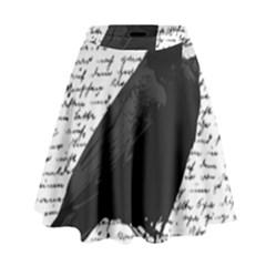Black Raven  High Waist Skirt by Valentinaart
