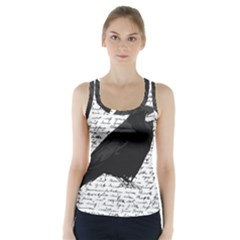 Black Raven  Racer Back Sports Top by Valentinaart