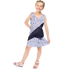 Black Raven  Kids  Tunic Dress by Valentinaart