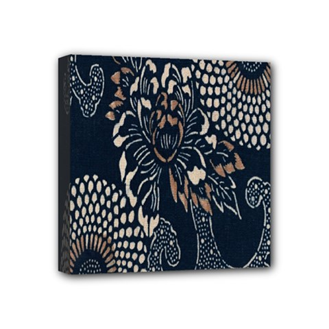 Patterns Dark Shape Surface Mini Canvas 4  X 4  by Simbadda