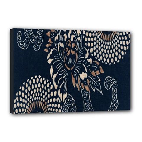 Patterns Dark Shape Surface Canvas 18  X 12  by Simbadda
