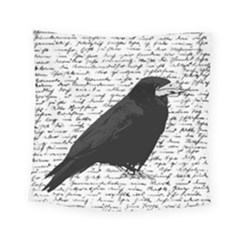 Black Raven  Square Tapestry (small) by Valentinaart