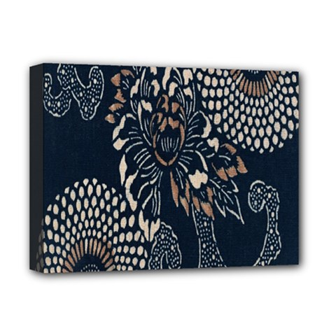 Patterns Dark Shape Surface Deluxe Canvas 16  X 12   by Simbadda