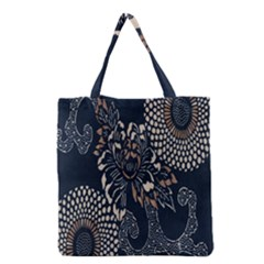 Patterns Dark Shape Surface Grocery Tote Bag by Simbadda