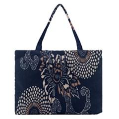 Patterns Dark Shape Surface Medium Zipper Tote Bag by Simbadda