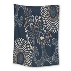 Patterns Dark Shape Surface Medium Tapestry by Simbadda