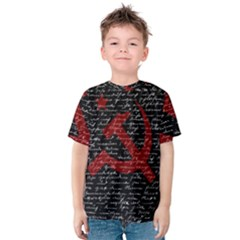 Communism  Kids  Cotton Tee by Valentinaart