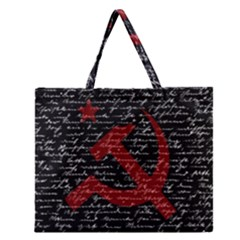 Communism  Zipper Large Tote Bag by Valentinaart