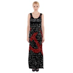 Communism  Maxi Thigh Split Dress by Valentinaart