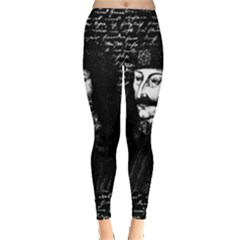 Count Vlad Dracula Leggings  by Valentinaart