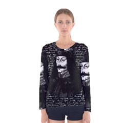 Count Vlad Dracula Women s Long Sleeve Tee by Valentinaart