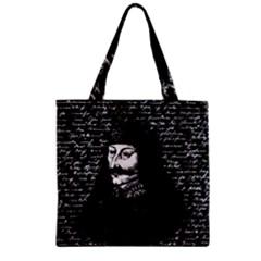 Count Vlad Dracula Zipper Grocery Tote Bag by Valentinaart