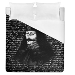 Count Vlad Dracula Duvet Cover (queen Size) by Valentinaart