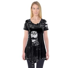 Count Vlad Dracula Short Sleeve Tunic  by Valentinaart
