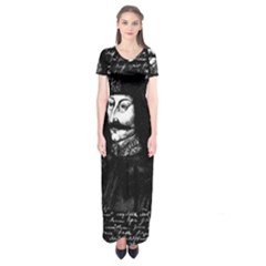Count Vlad Dracula Short Sleeve Maxi Dress by Valentinaart