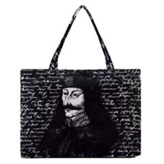 Count Vlad Dracula Medium Zipper Tote Bag by Valentinaart