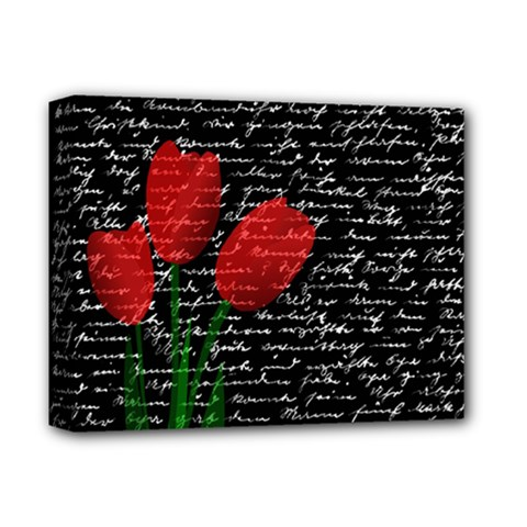 Red Tulips Deluxe Canvas 14  X 11  by Valentinaart
