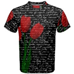 Red Tulips Men s Cotton Tee by Valentinaart