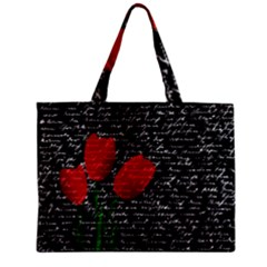 Red Tulips Zipper Mini Tote Bag by Valentinaart