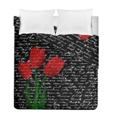 Red Tulips Duvet Cover Double Side (full/ Double Size) by Valentinaart