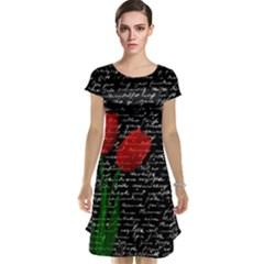 Red Tulips Cap Sleeve Nightdress by Valentinaart