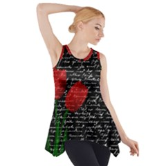 Red Tulips Side Drop Tank Tunic by Valentinaart