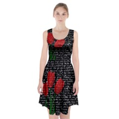 Red Tulips Racerback Midi Dress by Valentinaart