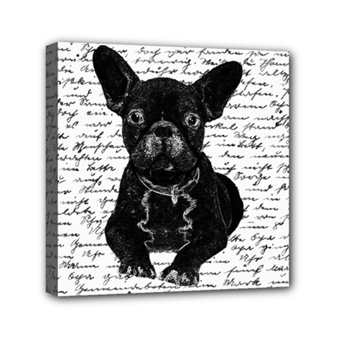 Cute Bulldog Mini Canvas 6  X 6  by Valentinaart