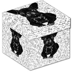 Cute Bulldog Storage Stool 12   by Valentinaart