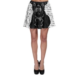 Cute Bulldog Skater Skirt by Valentinaart